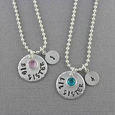 5 Star Etsy Seller Big Sister Little Sister Necklaces  Set Of