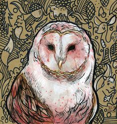 Owl Art Print - Julia Green / $15.00
