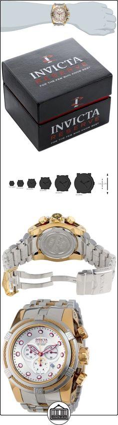 Invicta 14068Perno Reserva Cronógrafo Plata Dial Acero inoxidable reloj  ✿ Relojes para hombre - (Lujo) ✿