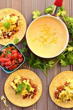 Christmas Morning Tacos with Mornay Sauce - Powered by Monterey Jack Cheese, Morning Food, Christmas Morning, Healthy Options, Cheese Recipes, Us Foods, Tacos, Cooking, Ethnic Recipes