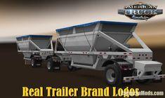 Real Trailer Brand Logos v3.0 (1.39.x) for ATS Trucks, Logos, Vehicles, Logo, Truck, Car, Vehicle, Tools