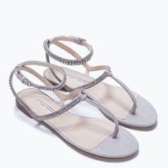 Image 5 of JEWEL FLAT SANDAL from Zara
