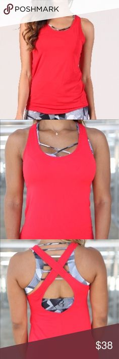 The NEW Thirty Collection Red Mesh Loose Top This classic look will give you versatility and comfort for all occasions Superior lightweight Supplex that is able to wick away sweat and moisture, dries faster than cotton, fully breathable, and retains color fabulously Loose top that drapes beautifully and would be a great fit for all body types Open back with crossing straps... perfect way to sport your favorite bra or tank top Scoop neck  Chest is not lined Made from Advanced Lightweight…