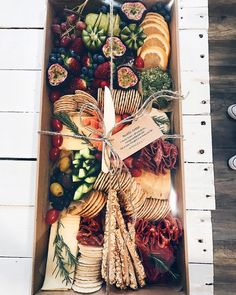 Hosting State of Origin this Sunday? 🏈🍺 We've got you covered! Only a few spots left for Grazing Boxes on Sun. $120 delivered to your door… Charcuterie Gift Box, Charcuterie And Cheese Board, Antipasto, Cheese Platters, Food Platters, Grazing Platter Ideas, Graze Box, Catering Display, Grazing Tables