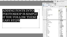 Whether on a Mac or a Windows, adding fonts in Photoshop is nothing to be daunted by – find out how to do it here. Photoshop Fonts, Photoshop Tutorial, Truetype Fonts, Link And Learn, Otf Font, Adobe Software, Best Free Fonts, Brush Font