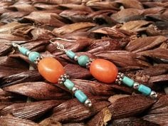 quartize & turquoise dangle earrings by KHamptonDesigns on Etsy, $24.00