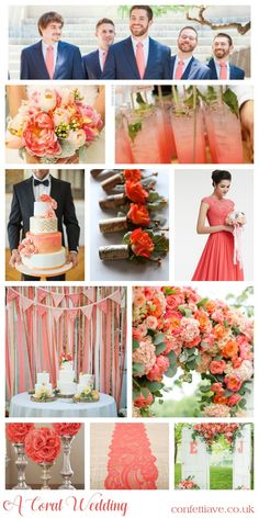 A Coral Colour Scheme | Mood Board http://confettiave.co.uk/coral-colour-scheme