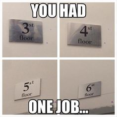 What's worse is the building only has 3 floors...