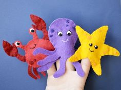 Log in to your Etsy account. Felt Puppets, Felt Finger Puppets, Felt Crafts Kids, Finger Puppet Patterns, Pink Fish, Pop Up Art, Marionette, Puppet Making, Sock Animals