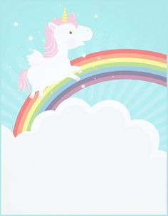 Unicorn free printable birthday invitation template greetings free printable unicorn invitation card filmwisefo