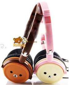 Free shipping Cute cartoon couple headband Rilakkuma headphones For MP3, computer headset-in Consumer Electronics on Aliexpress.com