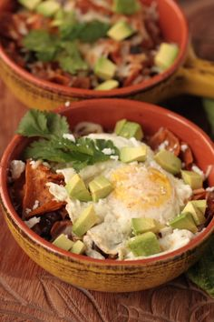 Mexican food - who wouldn't like  eggs,  avocado,  steak and  basil?