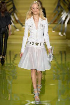Gorgeous dress at #Versace's fashion show in #MilanFashionWeek #SpringSummer2014