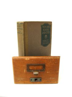 Antique Library Card Catalog Drawer Light Oak by jeevesandmolly, $28.00
