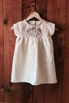 Handmade Linen Dress With Hand Embroidery | ZoeLoomisHandmade on Etsy