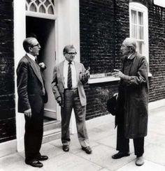 Friedrich von Hayek, Ralph Harris and Arthur Seldon at the Institute of Economic Affairs