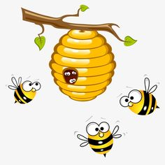 Pin by Icons on Icons Art Drawings For Kids, Doodle Drawings, Drawing For Kids, Animal Drawings, Doodle Art, Bee Drawing, Bee Images, Cartoon Bee, Cute Bee