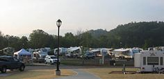 Pine Mountain RV Park, Pigeon Forge, TN. Campers can enjoy the outdoor pool on site or the indoor pool at the hotel across the street!