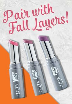 Ulta Lip Butter gives you the perfect shine to match your favorite oversized sweater this fall! This look is going to be turning heads all season long,not to mention leaving your lips looking supple and sweet.