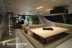 S/Y Red Dragon - 169 ft luxury performance sailboat - on deck cinema! so cool!