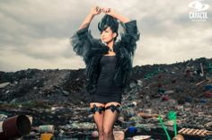 Katherine Moscoso . Colombia's Next Top Model, Cycle 2 Episode 7 > Trash Couture by Zuan Carreño