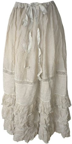 Magnolia Pearl: Papyrus dot voile Long Penelope Skirt