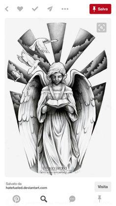 Forarm Tattoos, Body Art Tattoos, Hand Tattoos, Religious Tattoo Sleeves, Japanese Demon Tattoo, Religion Tattoos, Intimate Tattoos, Heaven Tattoos, Fairy Tattoo Designs