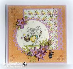 Easter Bunny (Sku#G781)  Art Impressions Stamps