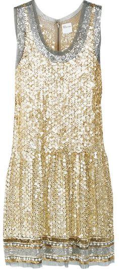Valentino Gold Sequin Dress