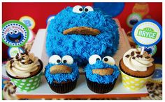 Sydney, Sesame Street, Party Ideas, Decorations, Birthday, Cake, Cookie Monster