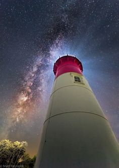 Milky Way at Nauset Lighthouse in Eastham, Cape Cod.