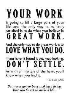 Steve Jobs Work Quote