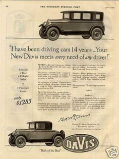 This is the Davis Cars. made iin 1926. This car was a Major car back in the day. many people bought this car
