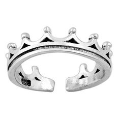 Metal Factory Sterling Silver 7MM Braided Rope Adjustable Toe Ring