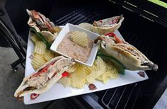 Round 2: Denise Allen came up with a gyros-inspired dish made with beef, eggplant, yogurt dip and potato chips for Cook of the Week Challenge's Tailgate Week.
