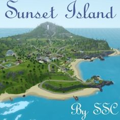 Sunset Island by ScarletQueenKat1 - The Exchange - Community - The Sims 3 The Sims 3 Pets, Sims Pets, Sims 3 Generations, Sims 3 Worlds, Sims 3 Games, Sunset Valley, History Page, Dj Booth, Purchase History