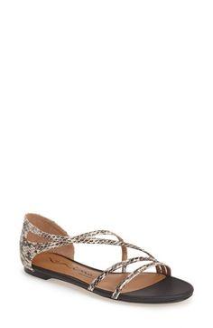 Nina Originals 'Sonnet' Snake Embossed Leather Sandal (Women) available at
