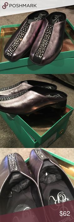 J.Reneé Shoes J Reneé shoes. Pewter. Never been worn. New with tags. J Reneé Shoes Mules & Clogs