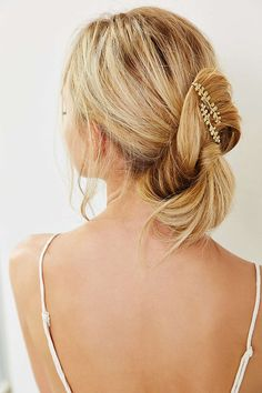 Add just a touch of shimmer to your hair with these pieces of hair jewelry