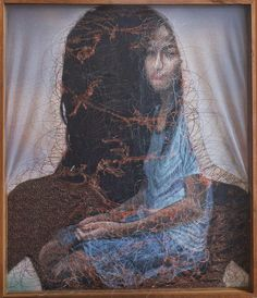 Uttaporn Nimmalaikaew's Ethereal Paintings On Mosquito Nets Shimmer In Mid Air