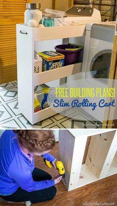 13 Laundry-Room-Organization-Ideas-Slim-Rolling-Cart