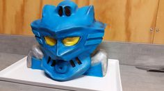 Gali, Master of Water cake (Lego Bionicles) Birthday Ideas, Birthday Cake, Cube, Lego, Lion Sculpture, Baking, Water, Party, Pastries