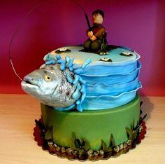 fisherman's cake By laskova on CakeCentral.com