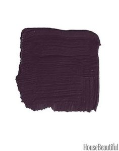 """C2 Paint Wicked 6446 C2 Paint Wicked 6446 """"When you first see this deep, rich purple, it looks quite dark, but it never loses the color. There's a good dose of red plum underneath. It would look kind of dapper on a door, very Savile Row. Dark and distinguished, yet unexpected. And it would work equally well on a traditional or a modern house."""" -KEN FULK    Read more: http://www.housebeautiful.com/decorating/colors/front-door-color#ixzz2jCBHBvhf"""