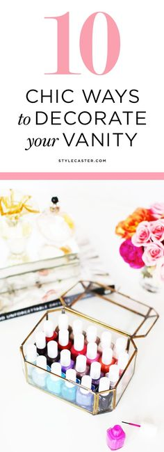 10 Chic Ways to Decorate Your Vanity Table | Seriously stylish tips and organization ideas to store all your jewelry, makeup, and perfume.
