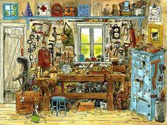Иллюстратор Свен Нурдквист и его самобытные творения - Ярмарка Мастеров - ручная работа, handmade