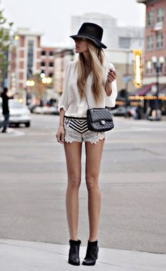 skyscraper style: long legs, high heels, metal hardware-- sleek chic!
