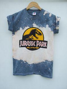 Image of Grey Splash Tie Dye Dino T Shirt - S
