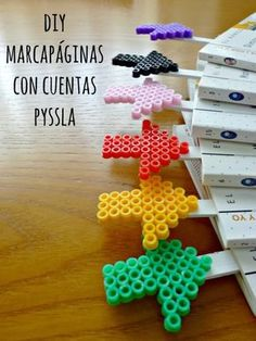 DIY Hama bead bookmark by Sueños de Craft Más