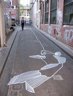 Masking Tape Graffiti by Buff Diss